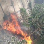 Jembatan di kawasan MA Salmun, Caringin Bogor Nyaris terbakar. Adi