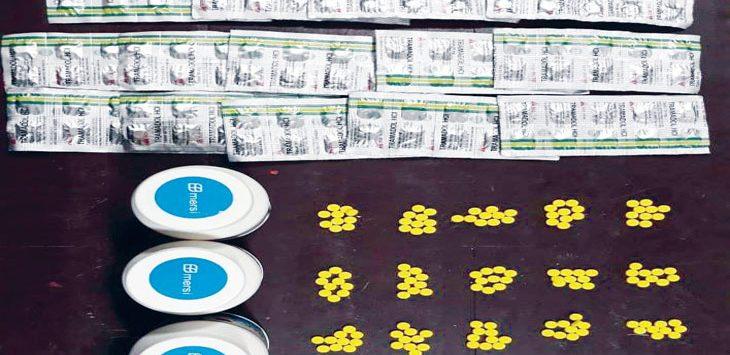 BARANG BUKTI: Obat heximer siap edar yang disita polisi.