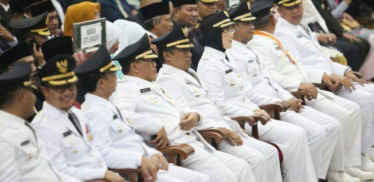 Pelantikan Kepala Daerah Jabar di Gedung Merdeka, Bandung, Kamis (20/9/2018)./Foto: Rmol