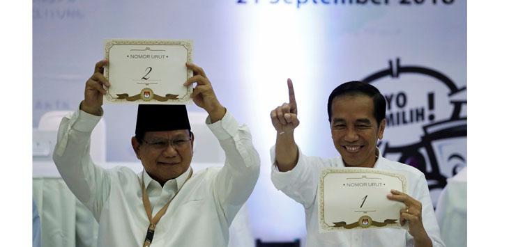 Pada perhelatan pemilihan presiden (pilpres) 2019, pasangan Joko Widodo-Ma'ruf Amin mendapat nomor urut 1. Sedangkan pasangan Prabowo Subianto-Sandiaga Uno mendapatkan nomor urut 2.