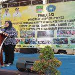 Bupati Bekasi saat memberikan sambutan di kegiatan evaluasi P2WKSS. Foto : Humas Pemkab Bekasi for Pojoksatu