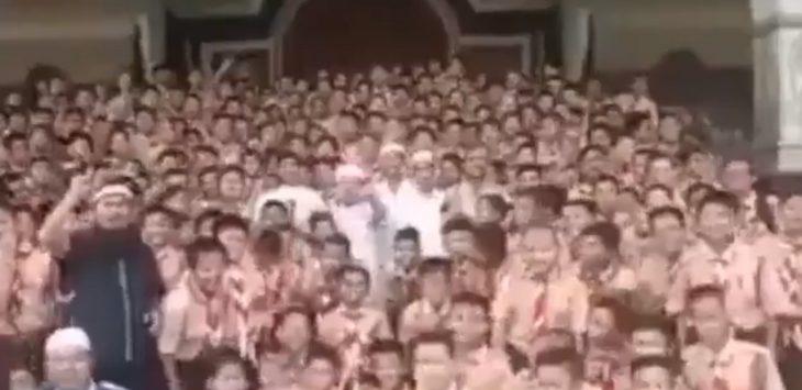 Beredar video 2019 Ganti Presiden di Lembaga Penidikan./Foto: Istimewa