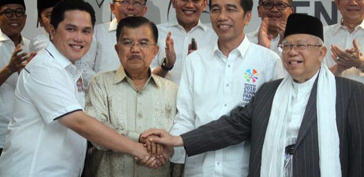 Erick Thohir bersama pasangan Jokowi-MA (jpc)