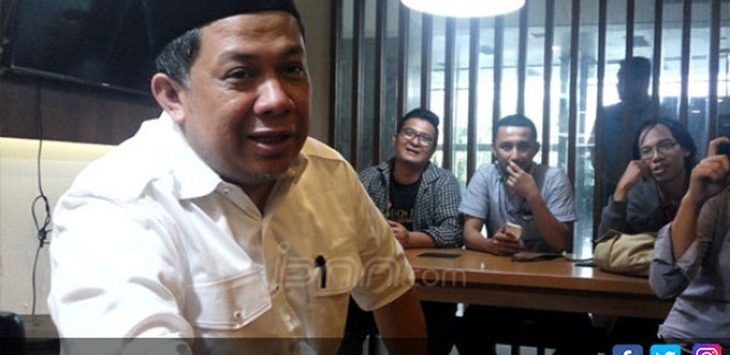 Fahri Hamzah di Press Room DPR./Foto: jpnn