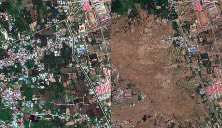 Foto Satelit Pasca Gempa dan Tsunami di Palu