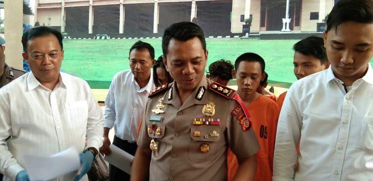 AKBP Suhermanto, Kapolres Cirebon, saat melakukan gelar perkara di Mako Polres. Kir/pojokjabar.com