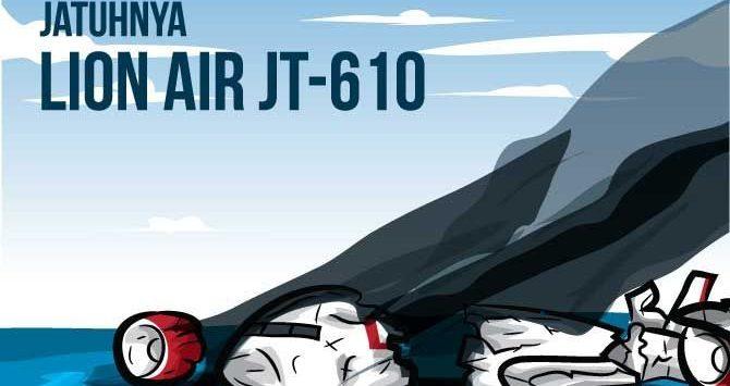 Ilustrasi Jatuhnya Lion Ai JT-610 (Kokoh Praba Wardana)