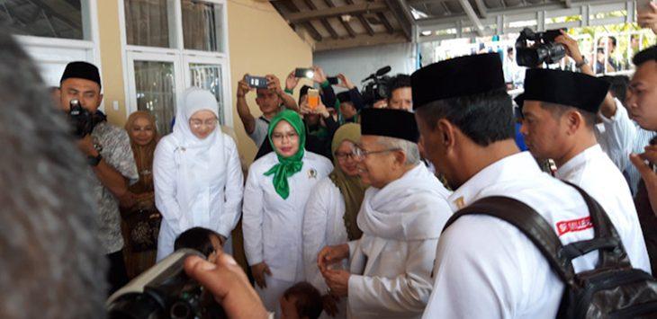 Kiai Ma'ruf Amin saat datang ke Purwakarta, Rabu (3/10/2018)./Foto: Rmol
