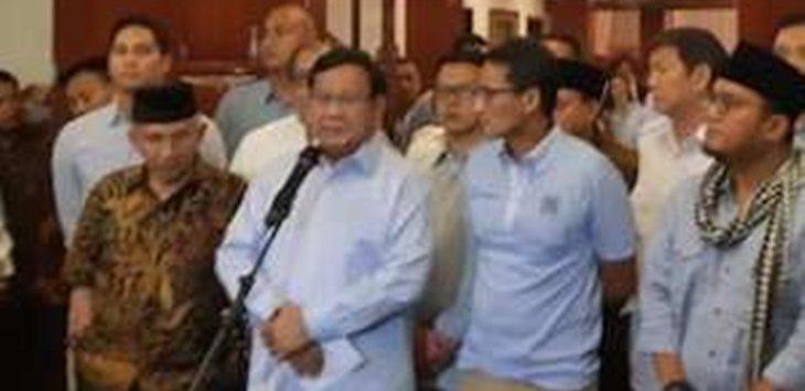 Prabowo Subianto saat sedang konferensi pers terkaiit kasus Ratna./Foto: Rmol
