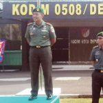 SAMBUTAN: Wakil Walikota Depok Pradi Supriatna saat sambutan di Makodim 0508/Depok, rabu (17/10/18). Irwan/Radar Depok