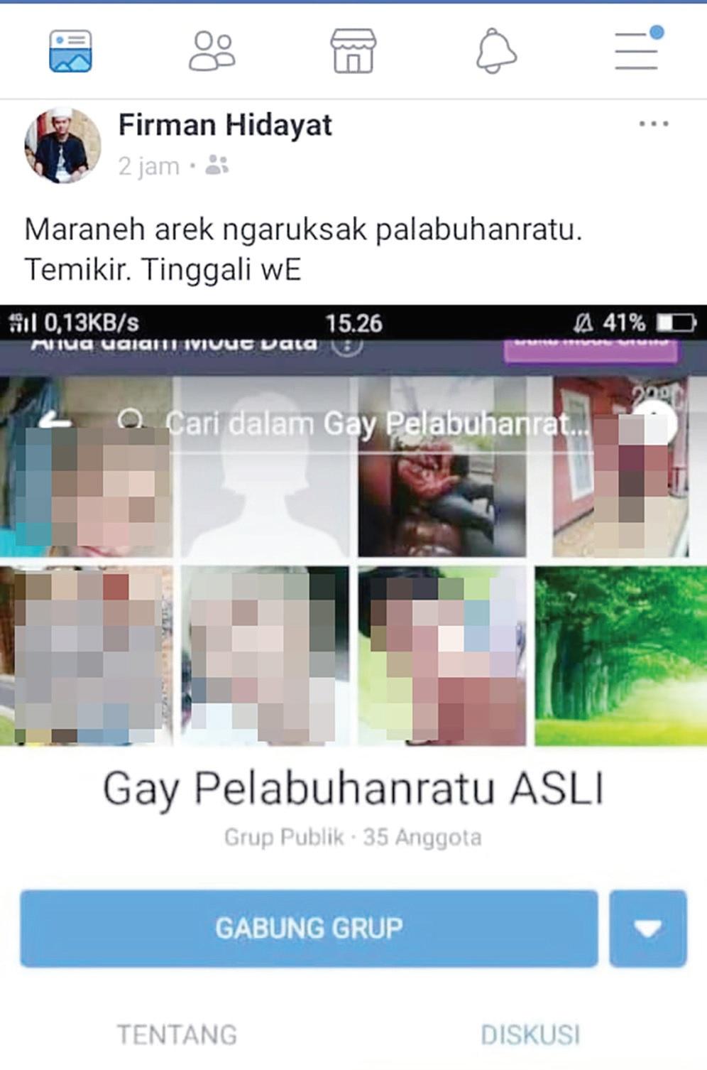 Grup Facebook Gay Palabuhanratu