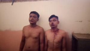 Aksi pencurian di Desa Tegal Gubug Lor. Dua pencuri yang babak belur dimassa.