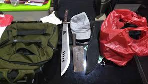 Alat yang digunakan pelaku untuk menyerang Polsek Penjaringan