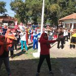 Camat Suranenggala (baju merah) bersama Muspika gelar Hari Kesehatan, Jumat (16666/11/2018)./Foto: Kirno
