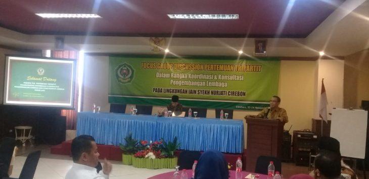 FGD IAIN Syekh Nurjati Cirebon saat membahas rencana pembangunan kampus II di Indramayu. Alwi/pojokjabar.com