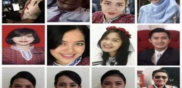 Foto-foto pramugari dan kru Lion Air JT 610. Sebanyak 64 penumpang belum diketahui jenazahnya.