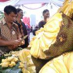 Uji (48) penjual Nangka di Depan Taman Makam Pahlawan Dreded Bogor, foto/adi