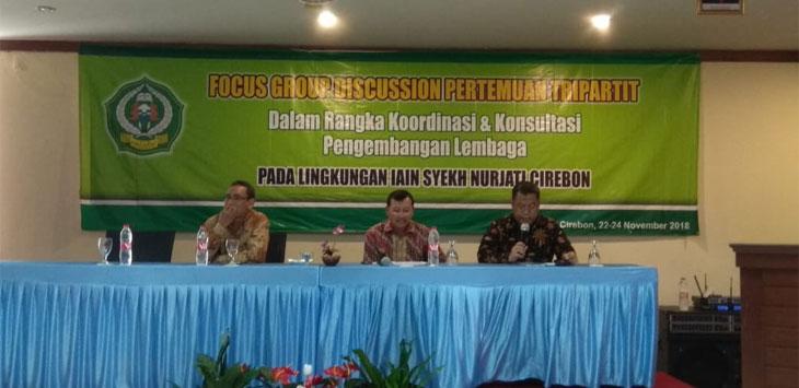 Focus Group Discussion (FGD) IAIN Syekh Nurjati Cirebon dalam rangka pembahasan pendirian kampus II di Indramayu. Alwi/pojokjabar.com