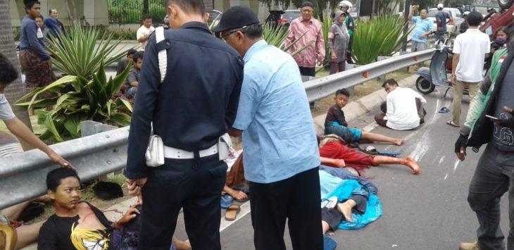 Kondisi 23 santri yang terluka akibat kecelakaan di flyover Green Lake City Tangerang
