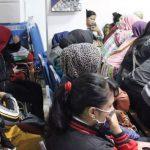 TERJARING : Beberapa pasangan asusila saat diamankan di markas Satpol PP Kota Bandung karena terjaring operasi yustisi pada Kamis malam (15/11/18). Istimewa