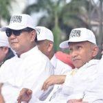 Prabowo Subianto di reuni 212 kenakan topi tauhid