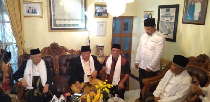 Cawapres Ma'ruf Amin saat di Sukabumi./Foto: Rmol