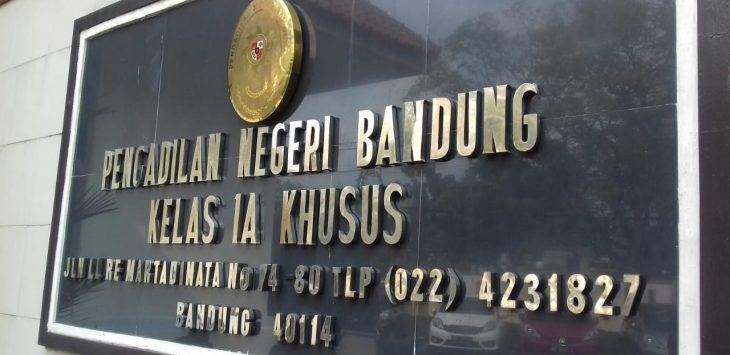 Pengadilan tindak pidana korupsi Bandung.