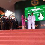 Ade Munawaroh dan Iwan Setiawan serah terima jabatan Bupati dan Wakil Bupati Bogor