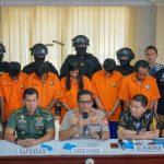 Lima pengeroyok anggota TNI di Ciracas diperlihatkan ke publik saat konferensi pers di Polda Metro Jaya (JPC)