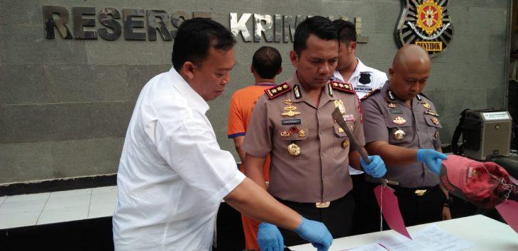 Polres Cirebon beberkan penganiayaan di Susukan./Foto: Kirno