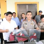 Polrestabes Bandung ekspose dua pelaku curanmor yang ditembak mati (arif)