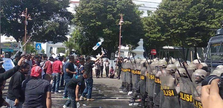 Suasana Sispam Kota pada simulasi pengamanan Pilpres dan Pileg 2019 di Kota Cirebon. (Alwi)