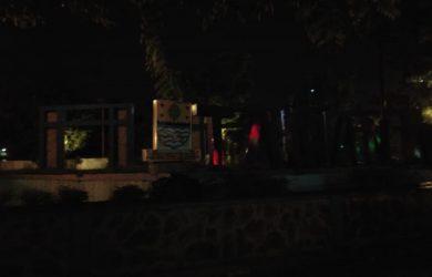Taman Krucuk saat malam hari