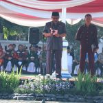 Walikota Cirebon Nasrudin Azis menjadi pembina upara Hari Bela Negara (HBN) ke-70 (Foto Alwi)