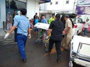 Korban kecelakaan di Tol Cipularang KM 71 Jawa Barat dibawa ke RS Purwakarta (ist)