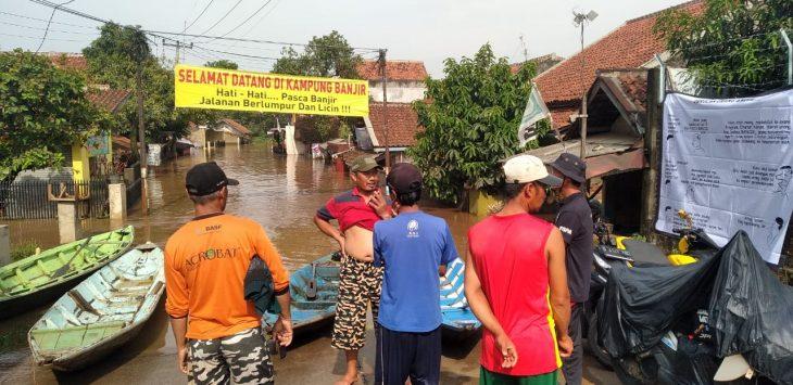 Dayeuhkolot dan Baleendah Kabupaten Bandung yang kembali dilanda banjir (arif)