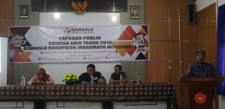 Bawaslu Kabupaten Indramayu sampaikan catatan di tahun 2018 (foto yanto)