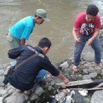 Bayi perempuan baru lahir yang dibuang ke Sungai Ciliwung Bogor (adi)