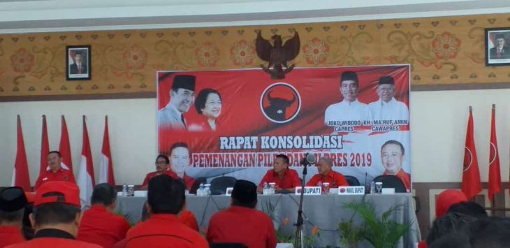 DPD PDIP Jawa Barat saat rapat konsolidasi partai di Hotel Grage Sangkan, Senin, (28/01/2019)./Foto: Ipay