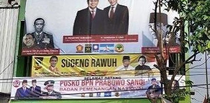 Foto Gatot Nurmantyo di sudut kiri atas baliho Prabowo Sandi (instgrm)