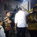 Kapolresta Bogor ketika meninjau lokasi penusukan siswi SMK di gang di Jalan Riau Bogor Timur (adi)