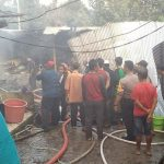 Kebakaran pabrik sepatu di Gang Erpah Desa Pasir Eurih Kecamatan Taman Sari Kab Bogor (ist)