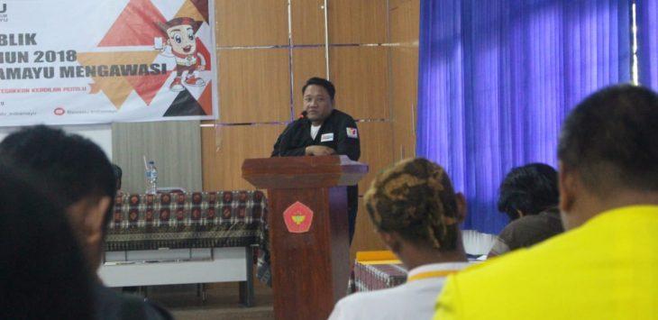 Komisioner Bawaslu Indramayu Divisi Hukum Data dan Informasi Haidar (foto yanto)