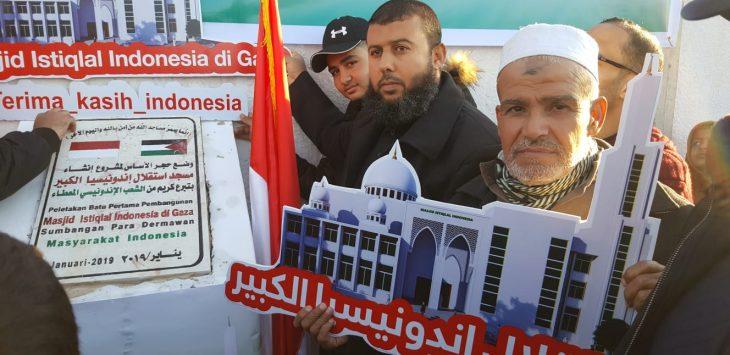 Masjid Istiqlal Indonesia di Gaza Mulai Dibangun./Foto: Istimewa