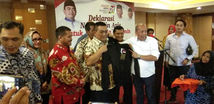 Wali Kota Cirebon menyatakan dukungannya kepada Capres dan Cawapres nomor 01 Joko Widodo - Ma'ruf Amin pada pilpres 2019. (kir/pojokjabar.com)