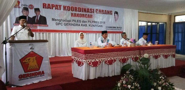 Partai Gerindra Kabupaten Kuningan Gelar Rakorcab./Foto: Ipay