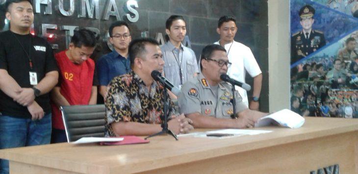 Polda Metro Jaya beberkan kasus hoax 7 kontainer tercoblos, Jumat (11/1/2019)./Foto: Firdaus