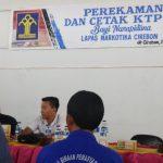 Proses pembuatan KTP elektronik di Lapas Gintung Cirebon (kirno)