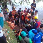 Proses pencarian bocah Abay di Sungai Cileungsi (rishad)