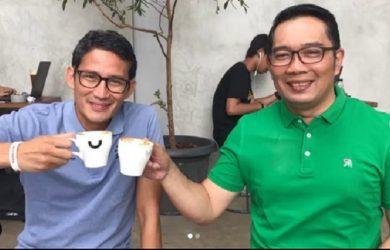 Sandiaga Uno dan Ridwan Kamil